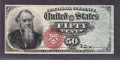 "US 50c Fractional Currency ""Stanton"" 4th Issue FR 1376 VF-XF"