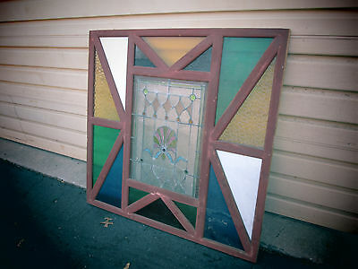 54704   Leaded Glass Stain  Stained Glass Window