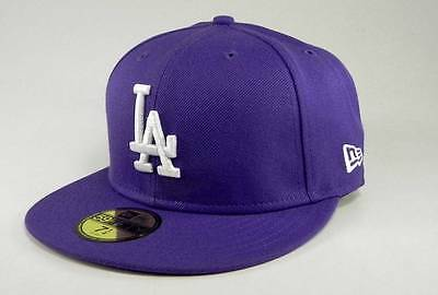New Era 59Fifty MLB Baseball Cap Los Angeles Dodgers Lavender White Hat Purple