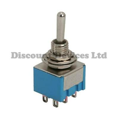 6Pin DPDT Toggle Switch On-On  2 Circuits Solder Type