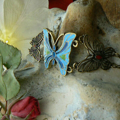 Butterfly Set Grace Vintage Jewellery Gift for her Unusual Retro Bracelet Love