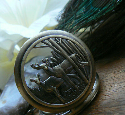 Unusual gift for her him gifts for men Pocket Watch Necklace Vintage Antlers