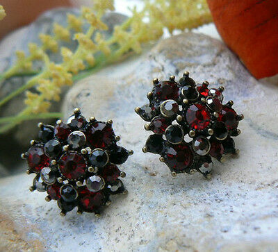 Crystal Earrings Unusual Gift for her elegant Goth Party Night Out Art Deco Stud