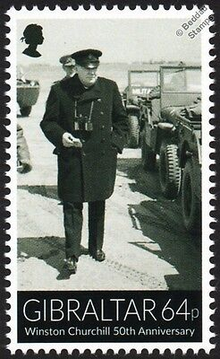 Sir Winston Churchill and Willys MB Jeep WWII Car Stamp (France 12th June 1944)