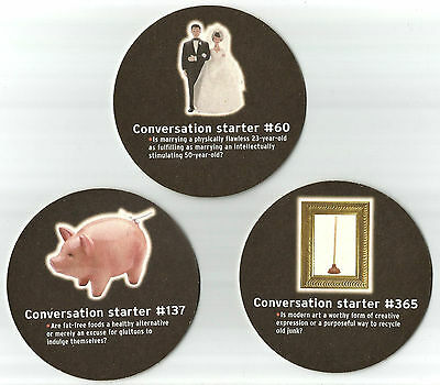 12 Bass Ale Conversation Starter  Beer Coasters 6 Designs 2 of  Each