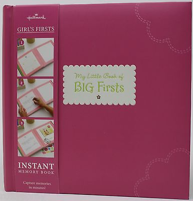 Hallmark Baby Girl Pink My Little Book of Big First Instant Memory Book NWT