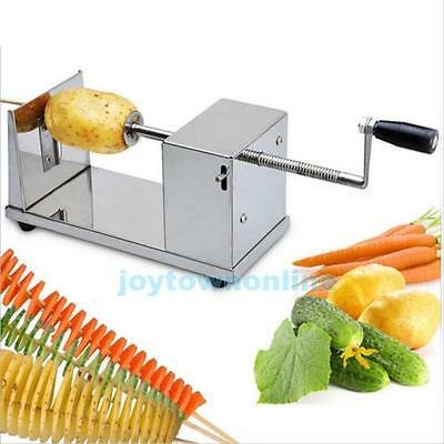 Manual Stainless Steel Spiral Tornado Slicer Potato Cutter French Fry Chip Twist