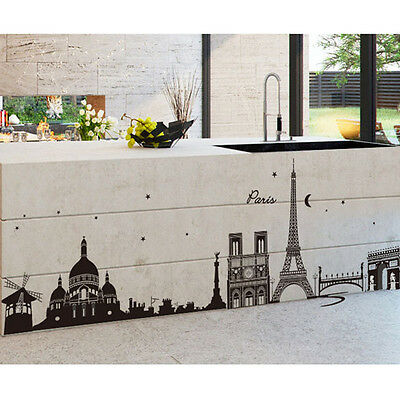 Paris Eiffel Tower Removable Art Decal Mural Home Bedroom Wall Sticker Decor New