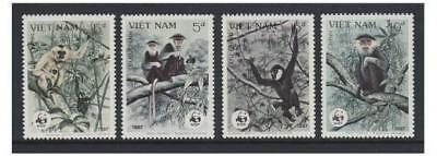 Vietnam - 1987 Monkeys set - MNH - SG 1120/3