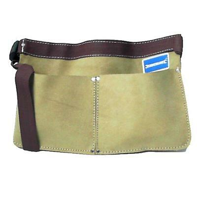 Nail Pouch And Adjustable Belt Two Pocket Split Suede Leather Roofing Etc