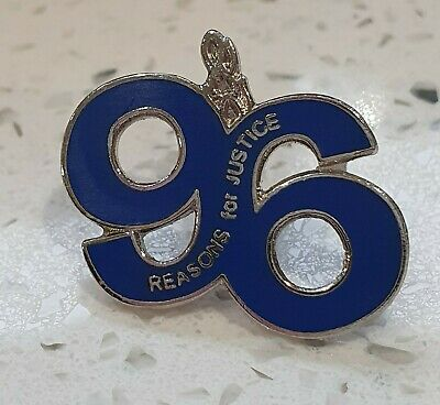 Everton 96 Reasons For Justice - Stud Badge Blue & Silver - Great Gift idea