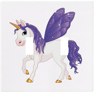 Purple Unicorn Fairytale Wall Plate Decorative Light Switch Plate Cover
