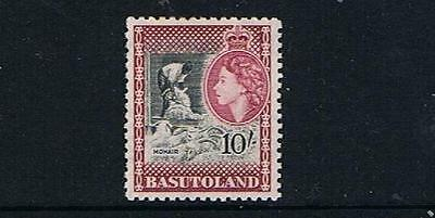 STAMPS  from  BASUTOLAND  1954 Q. ELIZ. 10/-  (MLH)  lot (A54)