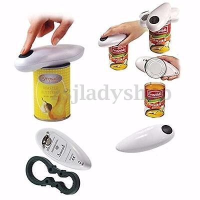 Automatic Electric CAN Tin Bottle Grip Opener Free Operater Jar Tool Open White