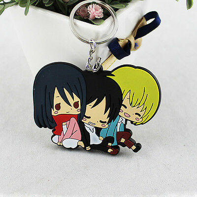 Attack on Titan Eren Mikasa Armin Anime Pendant Keychain Kryrings Men's Key Ring