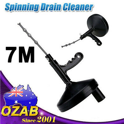 Sink Pipe Drain Cleaner Unblocker Auger Unblock Plunger with 7M Snake Cable