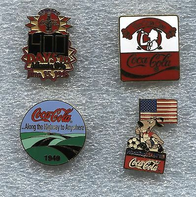 COCA COLA  Various Pins X 4
