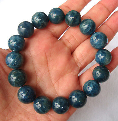 Natural Apatite Round Beads Stretch Bracelet 14mm/15mm