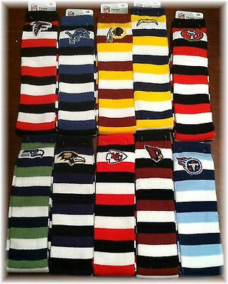 NFL Striped Knee High Hi Tube Socks One Size Fits Most Adults - Pick Your Team!
