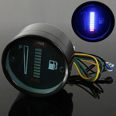 2'' 52Mm Led Blu Digitale Strumento Manometro Livello Benzina Borletti Auto Moto