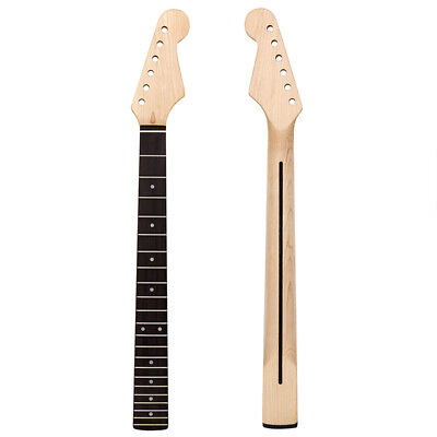 22 Fret Electric Guitar Neck Maple Rosewood Fretboard For ST Style Replacement