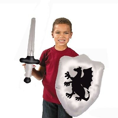 Inflatable Blow Up Knights Armour Sword & Shield Toy Set X99 317