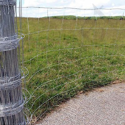 Stock Fencing M8/100/15 Sheep Pig Livestock Fence 50m Long 1m High Galvanised