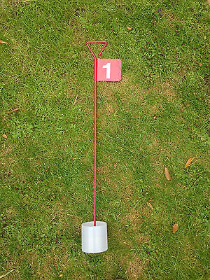 Numbered Metal Professional JL Golf Putting Green Flag and Hole Cup 90cm