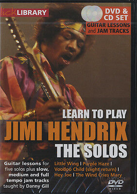 Learn to Play Jimi Hendrix The Solos Lick Library Guitar DVD & CD Set Danny Gill
