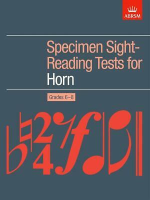 Specimen Sight-Reading Tests for Horn, Grades 6-8, Paperback, 9781860960598