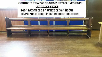 Antique Church Pew Will Seat Up To 8 Aduls