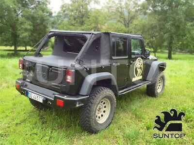 Cargo top per Jeep Wrangler Jk Unlimited 4 porte Nero