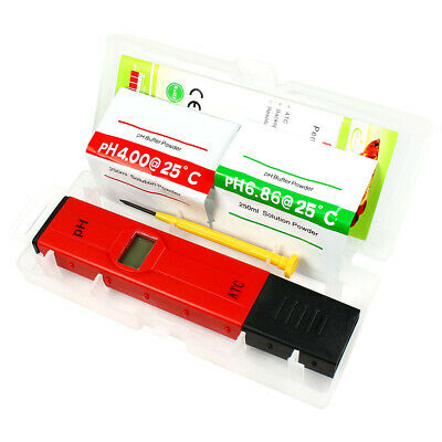 Pocket Digital pH Meter Tester Pen 0.05pH - ATC Waterproof for Pool Aquarium Lab