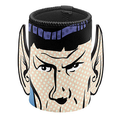 OUT Star Trek Spock Ears Neoprene Can Cooler Stubby Holder Fathers Day Man Cave