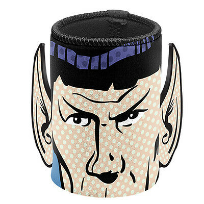 Star Trek Spock Ears Neoprene Can Cooler Stubby Holder Fathers Day Man Cave Gift