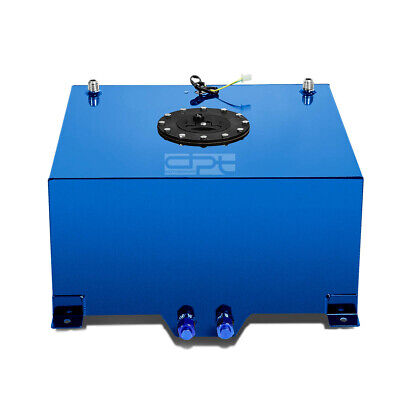 10 Gallon Lightweight Blue Coat Aluminum Race Drift Fuel Cell Tank+Level Sender