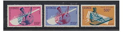 Guinea - 1962 Musical Instruments set - MNH - SG 323/5