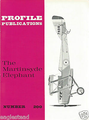 Aircraft Monograph - Martinsyde - Elephant - Profile Facts Summary (MN106)
