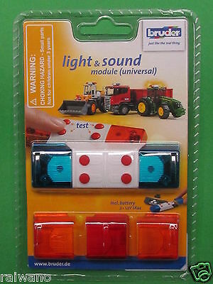 Bruder 02802 Light und Sound Module universald incl. Batterie