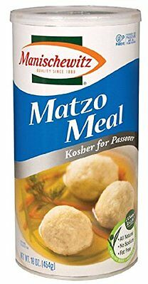 NEW Manischewitz Passover Matzo Meal 16oz Canister FREE SHIPPING