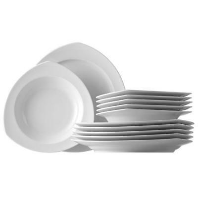 Service de Table 12 Pcs Thomas Vario Pure, Porcelaine Blanc Comp. Lave-Vaisselle