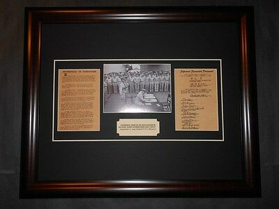 Douglas MacArthur Signs Japan Surrender Document Reprint