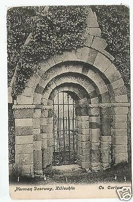 irish postcard ireland carlow norman doorway killeshin