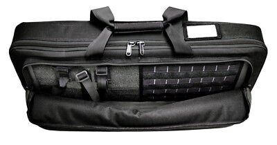 Tactical MOLLE Padded Rifle Gun Case Black Double Compartment Shoulder Backpack