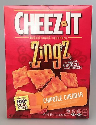 Cheez it Zingz Chipotle Cheddar Baked Snack Crackers 12.4 oz