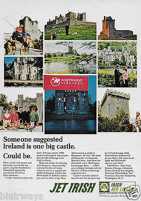 Irish Aer Lingus Airlines 1968 Ireland Is One Big Castle Jet Irish Ad