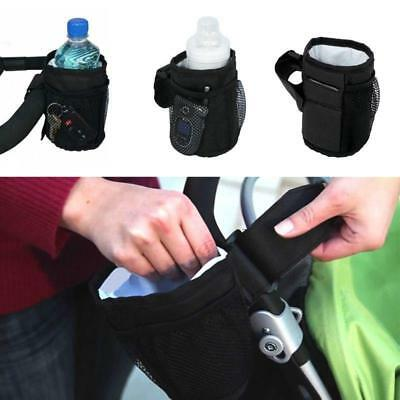 Baby Stroller Cup Holder Drink Pocket Bag Milk Bottle Phone Holder Pram Straw LG