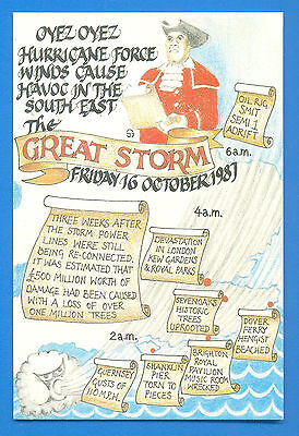 The Great Storm Friday 16 October 1987.postcard