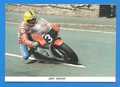 Joey Dunlop At May Hill,ramsey,1984 T.t.postcards