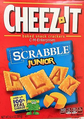 Cheez it Scrabble Junior Baked Cheese Snack Crackers 12.4 oz